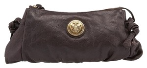 Gucci Hysteria Leather Brown Clutch