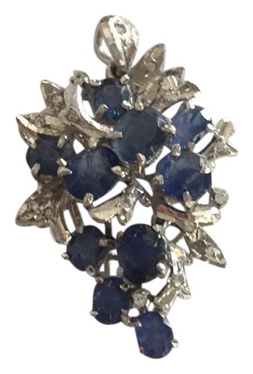 Preload https://img-static.tradesy.com/item/15613315/silver-blue-sterling-sapphire-and-single-cut-simulants-pendant-necklace-0-1-540-540.jpg