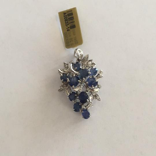 Other Sterling Silver Sapphire And Single Cut Simulants Pendant Image 2