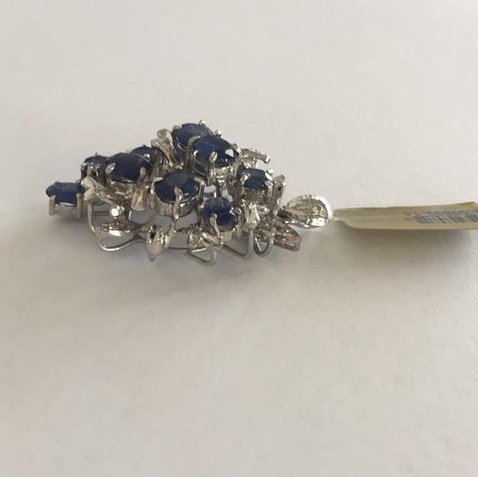Other Sterling Silver Sapphire And Single Cut Simulants Pendant Image 4