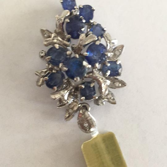 Other Sterling Silver Sapphire And Single Cut Simulants Pendant Image 6