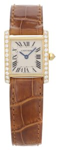 Cartier Cartier Tank Francaise 2385 18K Yellow Gold & Leather Strap (12995)