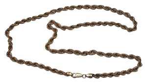 Other Estate Vintage Mens 10k Yellow Gold 24inches 5mm Rope Link Necklace Chain 12 grams