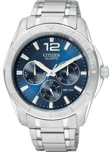 Citizen BL5470 - 57L Citizen Mens Eco-Drive Perpetual Chronograph AT Stainless Watch Silver/Blue