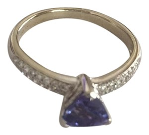 Other 14k White Gold Tanzanite & Diamond Ring