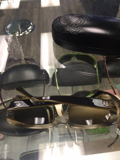 Versace Versace MOD. 4022 Green & Brown Plastic Square Sunglasses Image 4