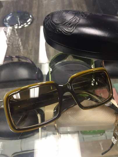 Versace Versace MOD. 4022 Green & Brown Plastic Square Sunglasses Image 9