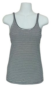 Maison Jules Striped Sleeveless Small Top Blue & white