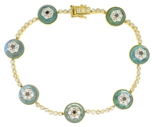 14K Yellow Gold 2.20Ct Diamond Sapphire Bracelet 22.0 Grams 14
