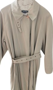 Giorgio Armani Vintage Trench Satin Lined Bone Buttons Raincoat