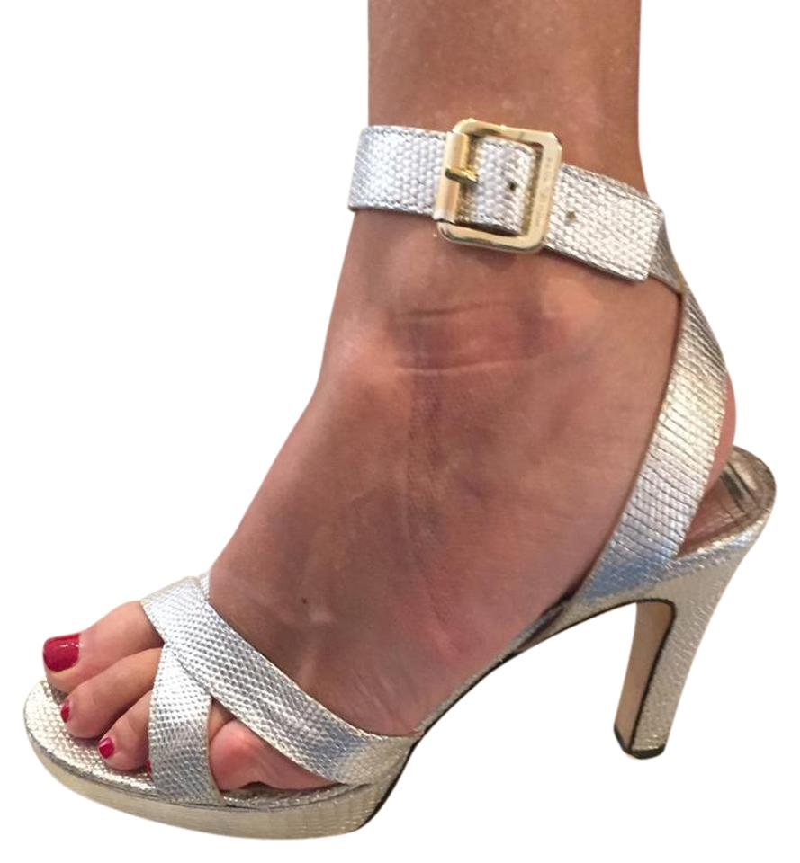 f24cdc0c6749 MICHAEL Michael Kors Silver Strappy Sandals Formal Shoes Size US 8 ...