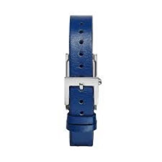 Tory Burch Tory Burch TRB2002 Rectangle Silver Dial Navy Italian Leather Watch Image 2