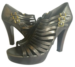 Ralph Lauren Metallic Gold Hardware Casual pewter Platforms