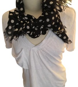 Kate Spade Black And White Polka Dot Scarf