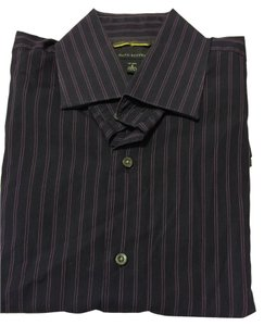 Banana Republic Men's Men's Long Sleeve Men's Striped Button Down Shirt Purple