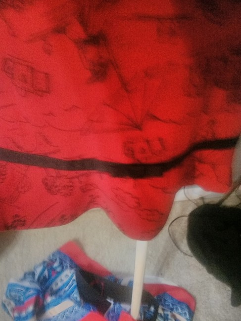 My Michelle short dress RED AND BLACK on Tradesy