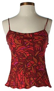 Diane von Furstenberg Silk Print Top Red