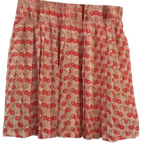 Vero Moda Mini Skirt Cream red green