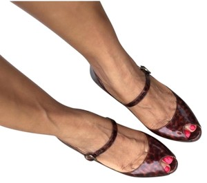 Cole Haan Leather Tortoise Shell Tortoiseshell Pumps