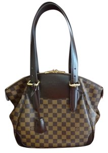 Louis Vuitton Verona Mm Damier Canvas Satchel in Damier Ebene