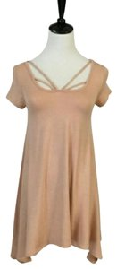 Other short dress Blush Pink Asymmetrical Cage Top Swing on Tradesy