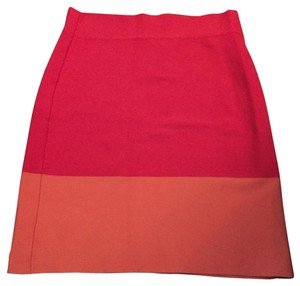 BCBGMAXAZRIA Bcbg Orange Skirt