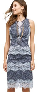 Anthropologie short dress blue Erin Fetherston Anthro Lace Lacetide Pencil on Tradesy