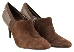 Calvin Klein Suede Jeanine Ankle Brown Boots