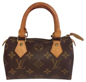 Louis Vuitton Mini Speedy Satchel in Brown