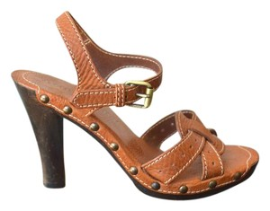 Burberry Leather Strappy Heels Brown Pumps