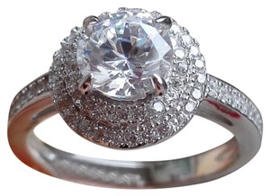 Other New 1.39ct AAA CZ & White Topaz & .925 Sterling Silver Ring 8