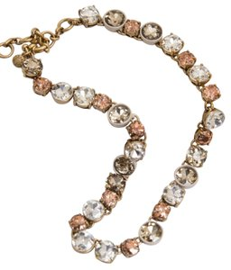 J.Crew New J.crew Crystal Necklace pink/white/grey in Pouch