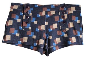 Marc by Marc Jacobs Patterned Geometric Mini/Short Shorts Navy