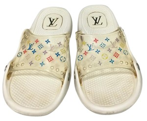Louis Vuitton Pool Beach Comfort Style White multi Sandals
