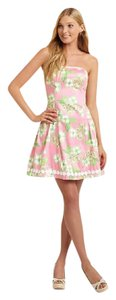 Lilly Pulitzer short dress Pink Tootie Pink and Green on Tradesy