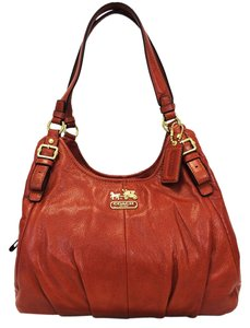 Coach 16503 Madison Maggie Persimmon Red Leather Shoulder Bag