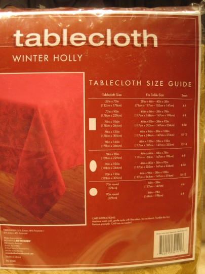 "Other Golden Damask Tablecloth (Oval Table; 46""x 96"" -- 58"" x 108"") - [ Roxanne Anjou Closet ]"