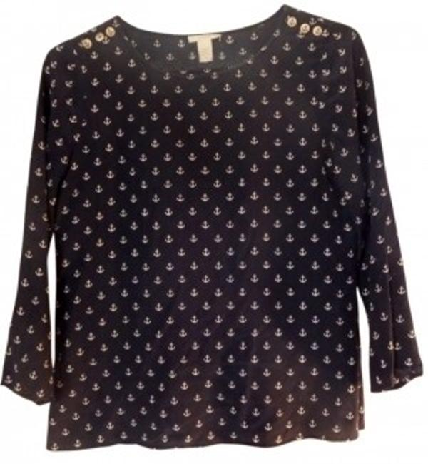 Preload https://item3.tradesy.com/images/jcrew-navy-white-anchor-silk-blouse-size-2-xs-156177-0-0.jpg?width=400&height=650
