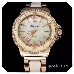 Other New Two Tone Copper & White Iced Out Bezel Elite Watch