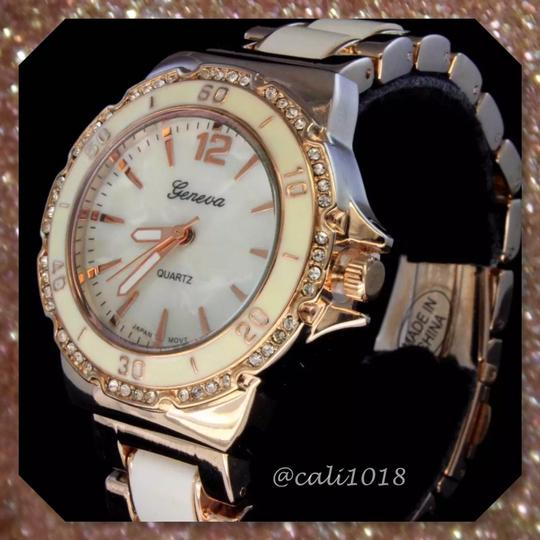 Other New Two Tone Copper & White Iced Out Bezel Elite Watch Image 2