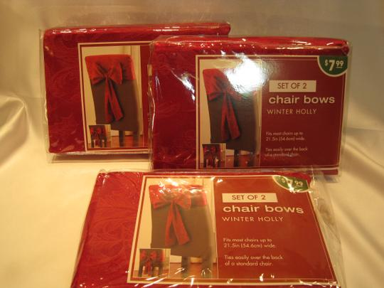 Other 6-Red Damask Chair Bows by Bed Bath & Beyond - [ Roxanne Anjou Closet ]