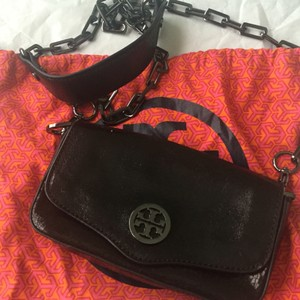 Tory Burch Leather Metal Hardware Cross Body Bag