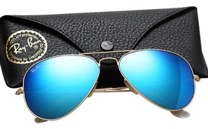22b948f0ee Ray-Ban Ray Ban Aviator RB3025 Sunglasses 112 17 Matte Gold with Blue Mirror