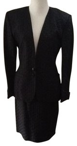 Gucci GUCCI Black 2 pc Suit Wool Silk Size 42 CHECK measurements pls