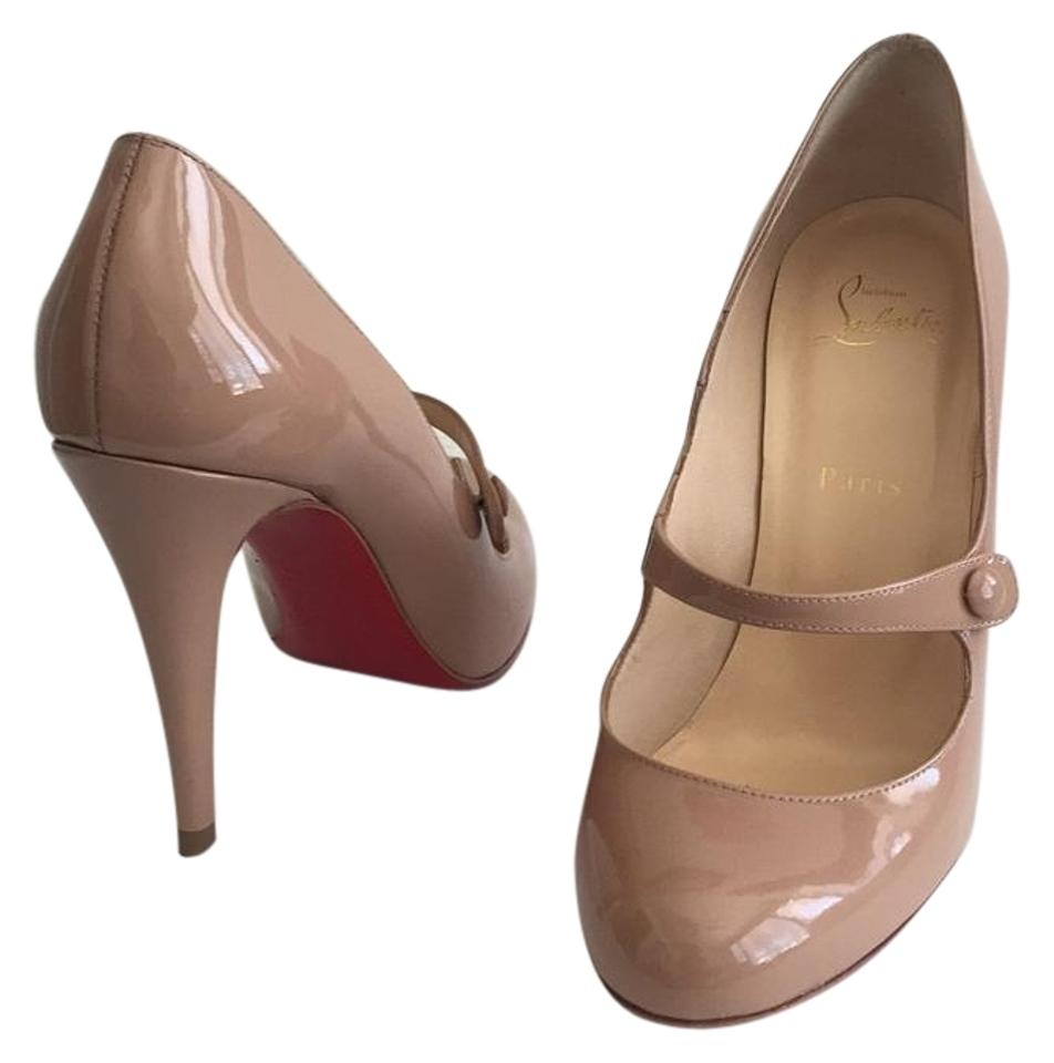 939fbdf1c907 Christian Louboutin Charlene Mary Jane Red Bottoms Patent Leather Nude Pumps  Image 0 ...
