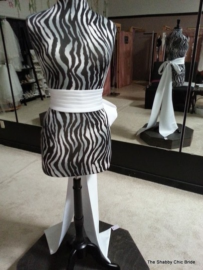 David's Bridal Satin Pleated Front Sash With Tails