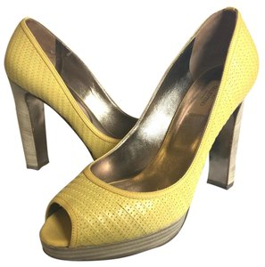 Valentino Peep-toe Spring Casual Pop Of Color yellow Pumps