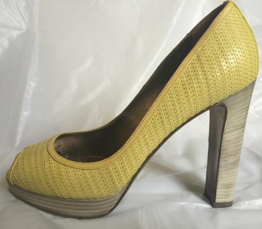 Valentino Peep-toe Spring Casual Pop Of Color yellow Pumps Image 2