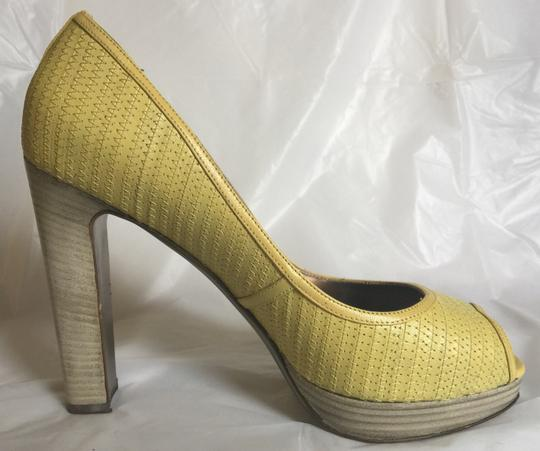 Valentino Peep-toe Spring Casual Pop Of Color yellow Pumps Image 3