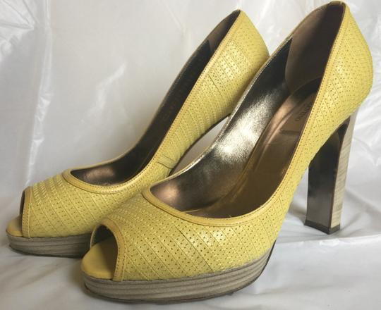 Valentino Peep-toe Spring Casual Pop Of Color yellow Pumps Image 5